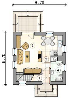 Проект дома №1-34. Площадь дома 98м2. Стоимость от 1 200 000 рублей.
