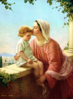 "Madonna - Mary & Jesus 88 | Luke 2:7 ""And she gave birth to her firstborn son; and she wrapped Him in cloths, and laid Him in a manger, because there was no room for them in the inn."""