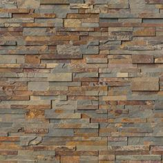 STACKED STONE LEDGER PANELS add warmth, texture and drama to your home. These can be used on the facade of a home to enhance the appeal, outside to showcase a barbecue, on a backsplash to beautify a kitchen or inside to beautify an interior wall. Slate Wall Tiles, Wall And Floor Tiles, Stone Backsplash, Stone Tiles, Stacked Stone Panels, Stone Veneer Panels, Stone Kitchen, Exterior House Colors, Gold Rush