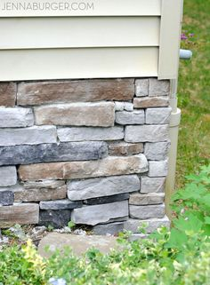 Adding Stone Veneer to a Concrete Foundation Wall