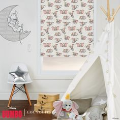 Disney Collection Disney Dumbo Blackout Roller Blind in Cream/Pink/Multicoloured. This Blackout Roller Blind includes guarantee and child safety features. Farmhouse Master Bedroom, Master Bedroom Makeover, Made To Measure Blinds, Blinds Design, Blinds For Windows, Window Blinds, Woodland Nursery Decor, Roller Blinds, Classic Collection