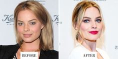Celebrities With Tattooed Eyebrows – My hair and beauty Mascara Tips, How To Apply Mascara, Applying Mascara, Margot Robbie, Afro Hairstyles, Celebrity Hairstyles, Brunette Pixie Cut, Celebrity Eyebrows, Eyebrow Before And After