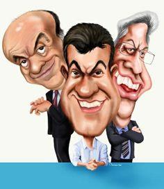 Caricatura de Cheversson Chagas
