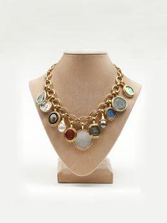 Elizabeth Locke Charm Necklace by Elizabeth Locke from Amanda Pinson Jewelry.  Call me a magpie!  I love the shiney shiney!