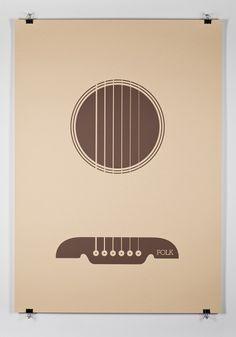 Designspiration — Music Genre Posters – Graphic Design inspiration on MONOmoda