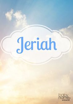 A rare choice found in the Old Testament, Jeriah hits a sweet spot with its popular -iah ending and brevity. It works well among other hit biblical names, while keeping its appeal as a unique option. Biblical Baby Boy Names Baby Girl Names Biblical, Biblical Names, Hebrew Names, Unusual Names, Unique Baby Names, Names Baby, Trendy Baby, Classic Names, Character Names