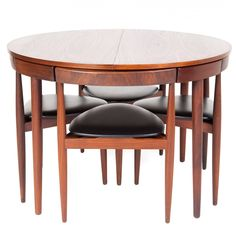 Hans Olsen, Table and Chairs | From a unique collection of antique and modern dining room chairs at https://www.1stdibs.com/furniture/seating/dining-room-chairs/
