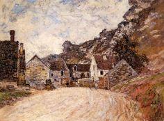 La Hameau de Chantemesle au pied du rocher (C Monet - W 588),1880.