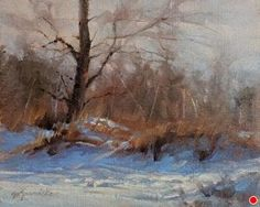 Winter Rhythms by Barbara Jaenicke, Oil, 8 x 10 Winter Images, Winter Painting, Christmas Paintings, Landscape Paintings, Landscapes, Winter Landscape, Fine Art Gallery, Paint Designs, Art For Sale