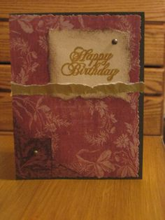 """""""Antique in Gold"""", Handmade card."""