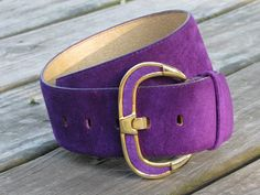 GORGEOUS Purple SUEDE Vintage Speyer Belt Size S by TheGirlSaidYes, $48.00