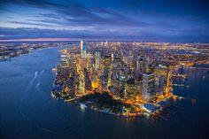 Aerial photographer. Jason Hawkes. Aerial Photography - Night - 2