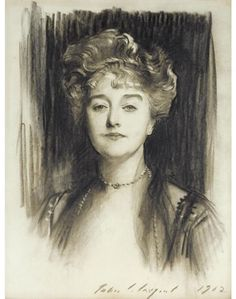 View Portrait of Maria Nelke by John Singer Sargent on artnet. Browse upcoming and past auction lots by John Singer Sargent. John Singer Sargent, Fine Art Drawing, Cool Art Drawings, Portrait Sketches, Portrait Art, Drawing Sketches, Spanish Woman, John Edwards, Charcoal Portraits