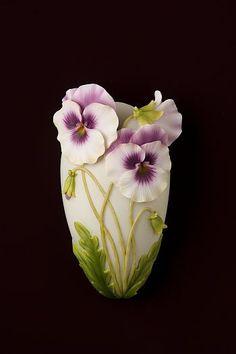 Pansy Wall Vase