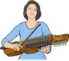 ニッケルハルパ ( nyckel harpa )/ スウェーデンの伝統的な弓奏楽器。Swedish musical instrument.