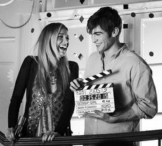 Blake Lively (Serena) and Chace Crawford (Nate) behind the scenes of Gossip Girl. #GG