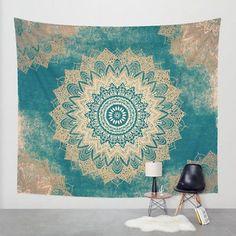 Indian Mandala Tapestry Wall Hanging Hippie Bohemian Bedspread Dorm Home Decor