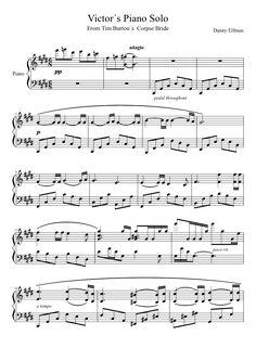 Victor´s piano solo (corpse bride) | MuseScore
