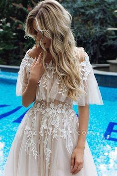 Dressy Dresses, Cute Dresses, Beautiful Dresses, Flower Girl Dresses, Boho Prom Dresses, Cute Wedding Dress, Dream Wedding Dresses, Wedding Gowns, Vintage Boho Wedding Dress