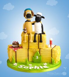 Shaun the Sheep and Bitzer - Cake by Little Cherry
