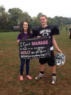 Homecoming ask for football manager! #homecoming #proposal