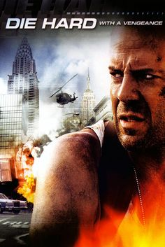 "Die Hard: With a Vengeance (1995) directed by John McTiernan, starring Bruce Willis, Samuel L. Jackson and Jeremy Irons. ""John McClane and a store owner must play a bomber's deadly game as they race around New York while trying to stop him."""