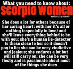 Quotes About Scorpio Personality Traits. QuotesGram