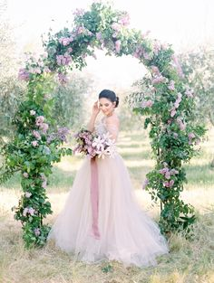 Using one of the prettiest ever Spring florals, this wedding shoot draws from the beauty of the season and will totally inspire you to embrace all things lilac. Wedding Arbors, Wedding Ceremony Backdrop, Wedding Shoot, Wedding Dresses, Wedding Ideas, Wedding Ceremonies, Flower Bouquet Wedding, Bridesmaid Bouquet, Flower Bouquets