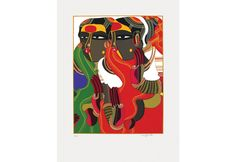 Silk Screen Print by T Vaikuntam on Paper in 44 Colours Famous Indian Artists, Silk Screen Printing, Female Characters, Colours, Paintings, Paper, Artwork, Prints, Screen Printing Press