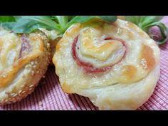 Caracolas de Hojaldre (rellenas de jamón y queso)