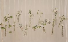 vintage bottle backdrop with flowers and lace, wow...and easy