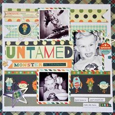 """""""Sharing a layout with the Be Different Collection from @fancypantsdesigns for the September 2014 Sketch and also used the cut file Counting Stars…"""""""