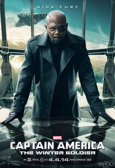 Twitter / YahooMovies: Nick Fury (Samuel L. Jackson) in 1 of our 3 #CaptainAmerica #WinterSoldier poster reveals