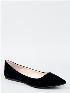 Qupid SITE-01 Studded Pointy Toe Flat | Shop Qupid Shoes