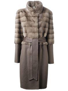 Liska Belted Fur Coat - Liska - Farfetch.com
