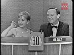 What's My Line - Debbie Reynolds appearing on the show circa 1959. She won over the panel, John C.Daly, the entire room! What a great sport!!!