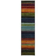Mohawk Rainbow Multi 2 ft. x 8 ft. Runner-183288 at The Home Depot