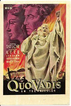 QUO VADIS PROGRAMA TARJETA ESPECIAL MGM ROBERT TAYLOR DEBORAH KERR - Foto 1