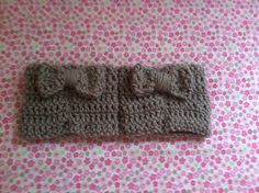 Boot cuffs with bows by Estcrochett on Etsy