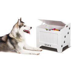 Homezone Pet Toy Storage Box, White