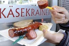 """Typically served at a """"Würstelstand"""" the """"Käsekrainer"""" - a cheese-filled bratwurst - is the reason why i quit being a vegetarian after 5 years. I couldn't live without it any longer…"""