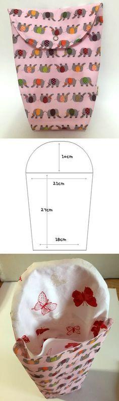 Make a Diaper Pouch. Sewing Tutorial  http://www.handmadiya.com/2015/10/diaper-bag-pouch.html