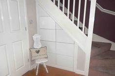 ContiBoard storage under the stairs