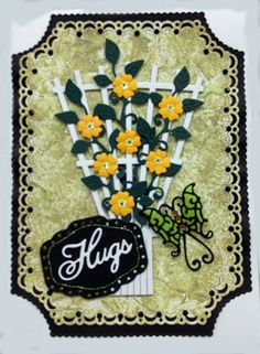 A Stitched Card from Jean.  All dies available at http://www.franticstamper.com/cheery-lynn-designs.html