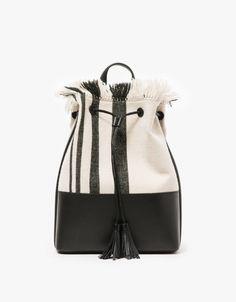 Backpack in Natural/Black