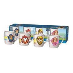 Paw Patrol Porcelain Mug Set Pack of 4  £4.99