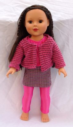 American Girl Doll Clothes, 18 in Doll, set, leggings,skirt, tank, sweater , Fall, Holiday,. $18.00, via Etsy.