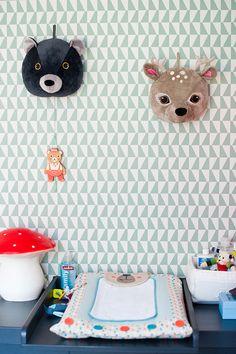 La chambre bébé d'Arthur - déco, baby, cute, baby room, chambre bébé, chambre garcon, bleu, mint