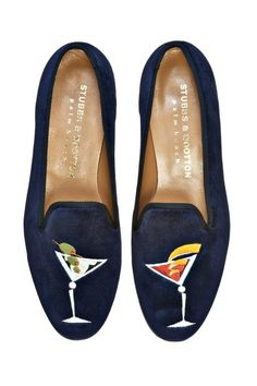 """""""tipsy"""" slippers...instore now in navy or black!"""