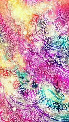 Colorful sparkle galaxy pattern wallpaper I created for the app CocoPPa.